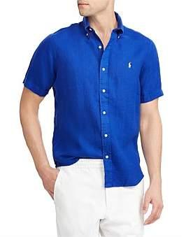 Polo Ralph Lauren Men'S Short Sleeve Linen Shirt