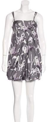 Robert Rodriguez Silk Printed Dress