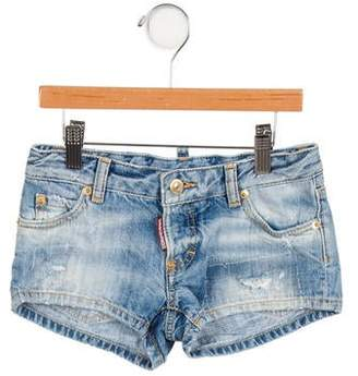 DSQUARED2 Girls' Distressed Denim Shorts w/ Tags