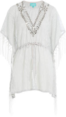 TAJ Embellished Cotton Fringe Tunic