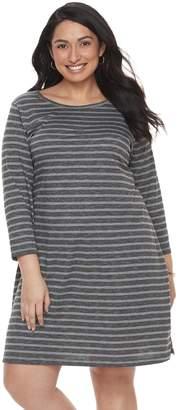 Sonoma Goods For Life Plus Size SONOMA Goods for Life Stripe T-Shirt Dress