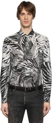 Just Cavalli Printed Shirting Cotton Shirt