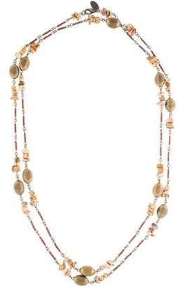 Erickson Beamon Long Jasper Bead Strand Necklace
