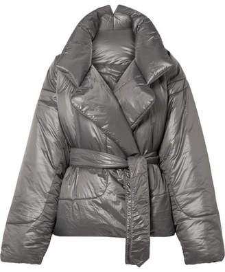 Norma Kamali Sleeping Bag Oversized Shell Coat - Gunmetal