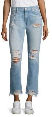 True Religion Cameron Boyfriend Light Wash Cotton Jeans $229 thestylecure.com