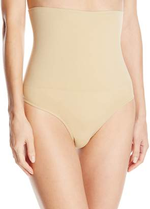 Carnival Women's Petite-Plus-Size Seamless High Waist Control Thong