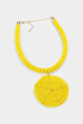 Embellish Beaded Spiral Necklace