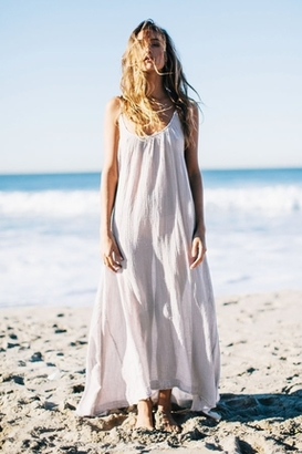 9 Seed Tulum Maxi Cover-Up in Desert $128 thestylecure.com