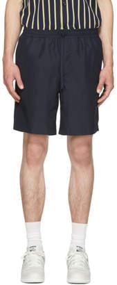 Ami Alexandre Mattiussi Navy Elastic Waistband Bermuda Shorts
