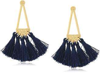 Rebecca Minkoff Geo Tassel Chandeliers Drop Earrings