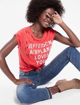 Lucky Brand JEFFERSON DISTRESSED TEE