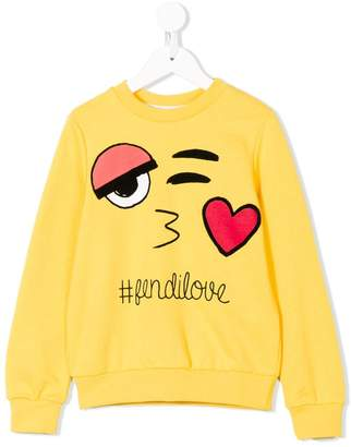 Fendi Kids love sweatshirt