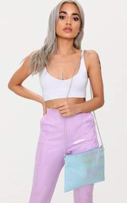 PrettyLittleThing Multi Iridescent Basic Clutch Bag