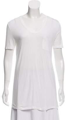 Alexander Wang Patch Pocket V-Neck T-Shirt