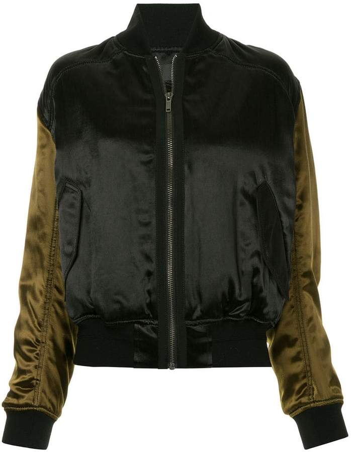 colour block bomber jacket