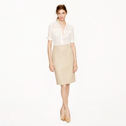 Pencil skirt in superfine cotton