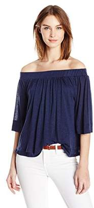 Three Dots Women's Granite Off Shoulder Top