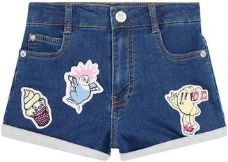 Kenzo Patch Applique Denim Shorts