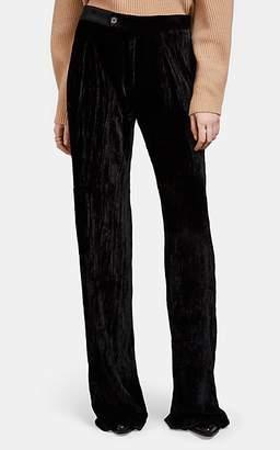 Chloé Women's Velvet Wide-Leg Pants - Black
