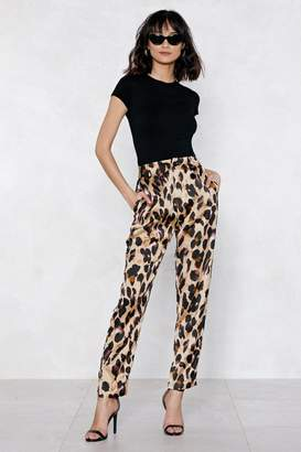Nasty Gal So Fierce Leopard Pants