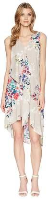 Adrianna Papell Asymmetric Sleeveless Shift Dress Women's Dress