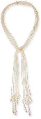 Utopia Long Six-Strand Pearl Lariat Necklace