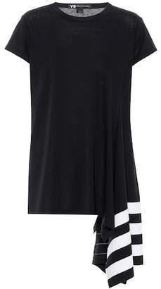 Y-3 Assymetrical cotton T-shirt