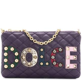 Dolce & Gabbana mini quilted shoulder bag with patch appliqués