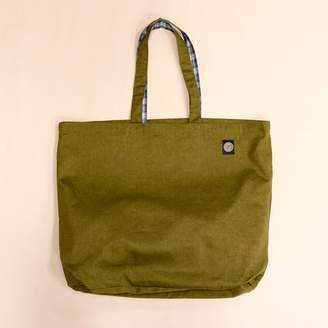 Blade + Blue Olive and Plaid Reversible Jumbo Tote Bag
