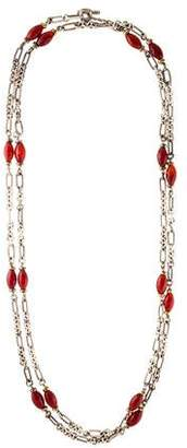 David Yurman Carnelian Station Necklace