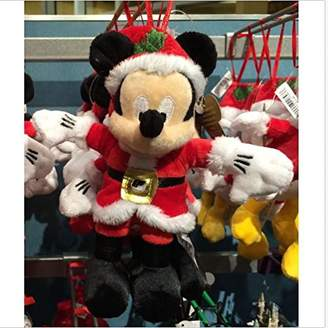 Disney Parks Mickey Mouse Santa 5 inch Plush Ornament NEW
