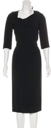 Roland Mouret Bodycon Long Sleeve Midi Dress