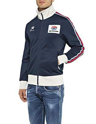 Replay Men's M3810 .000.22610 Sweat Jacket, (Blue 85), XX-Large