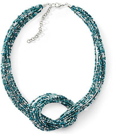 JCPenney Multi-Color Seed Bead Loop Necklace