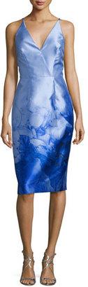 Monique Lhuillier Print Cocktail Dress, Periwinkle $498 thestylecure.com