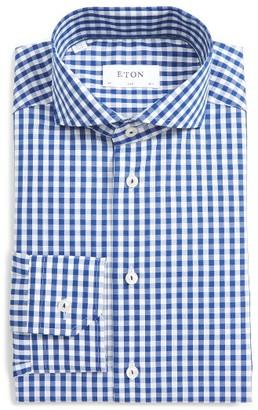 Men's Eton Slim Fit Check Dress Shirt $265 thestylecure.com