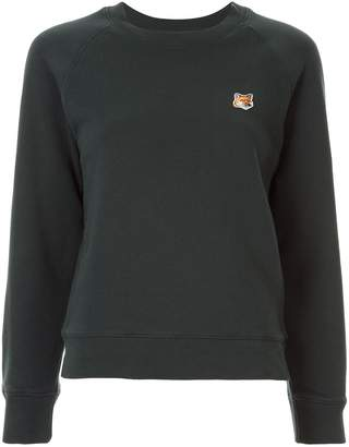 MAISON KITSUNÉ slim-fit logo patch sweatshirt