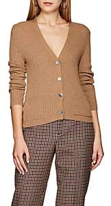 Thom Browne Women's Ribbed Camel Hair V-Neck Cardigan - Camel