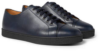 John Lobb Levah Cap-Toe Leather Sneakers - Men - Navy