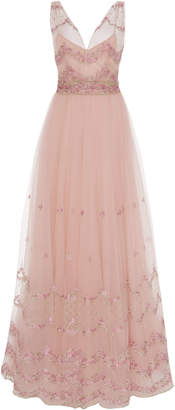 Luisa Beccaria Embroidered Tulle Ballgown