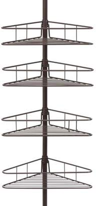 Kenney Manufacturing Kenney 4-Tier Spring Tension Shower Corner Pole Caddy with Razor Holder, Oil Rubbed Bronze