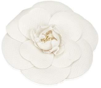 Chanel Vintage Chemical Fiber Camellia Brooch
