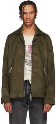 Rhude Brown Corduroy Trapper Jacket