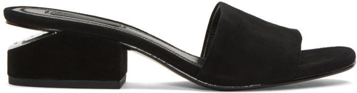 Alexander Wang Black Suede Hollie Sandals