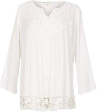 Dorothy Perkins Womens *Voulez Vous White Flared Sleeve Top