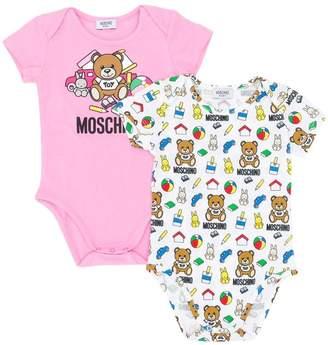 Moschino Kids logo body 2 pack