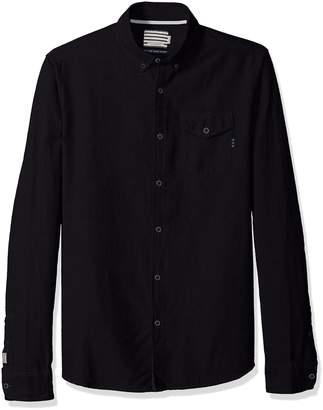 Scotch & Soda Men's AMS Blauw Clean Oxford Shirt with Chest Pocket