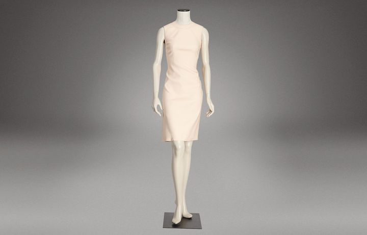 Nude stretch silk dress