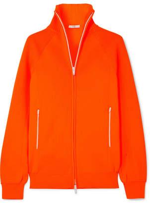 Tibi Neon Ribbed Stretch-knit Cardigan - Bright orange