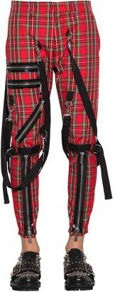 DSQUARED2 15cm Bondage Cotton Tartan Pants